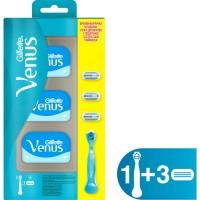 Gillette Venüs Smooth Kadın Tıraş Makinesi + 3 Yedek Tıraş Bıçağı