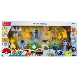 Pokemon Go Plus Oyuncak Pikachu 12li Figür Seti