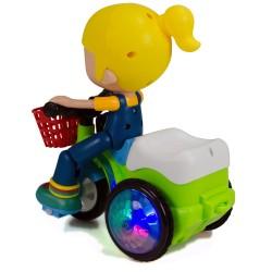 Bisikletli Pelin Işıklı Müzikli Dans Eden Kırılmaz Oyuncak