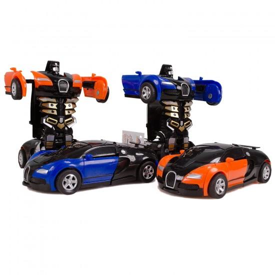 HD-07 Bugatti Robot Araba Çek Bırak Tek Tuşla Dönüşür 12Cm
