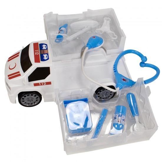 HD-09 Oyuncak Ambulans Çantalı İlk Yardım Seti 10 Parça