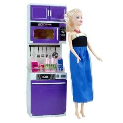 Frozen Elsa Oyuncak Bebekli Mutfak Seti