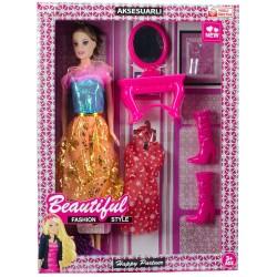 Duygu Bebek Oyuncak Seti Beautiful Aksesuarlı Barbie 28 Cm