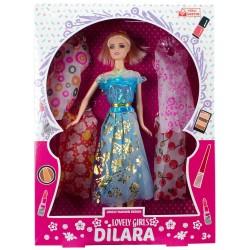 Dilara Bebek Oyuncak Seti Lovely Girl 5 Elbiseli Barbie 28 Cm