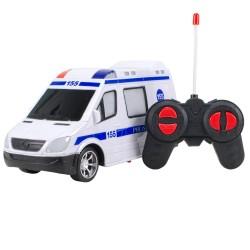 HD-32 Uzaktan Kumandalı Polis 155 Araba Pilli 1:18 LED Farlı