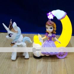 Frozen Elsa Kırılmaz Oyuncak Seti Sesli Işıklı Hareketli