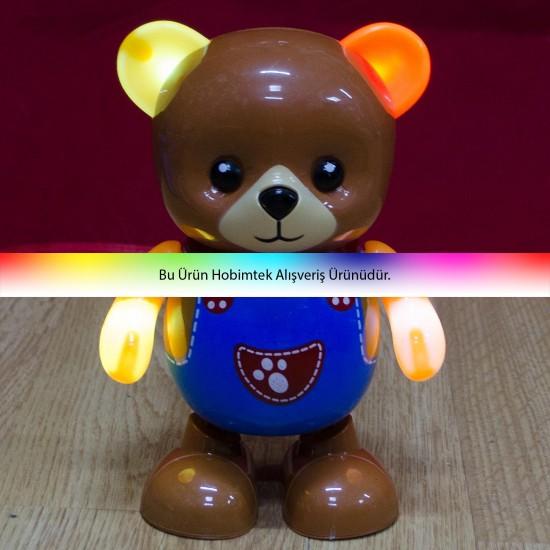 HD-39 Happy Bear Mutlu Ayı Kırılmaz Oyuncak Müzikli Dans Eder