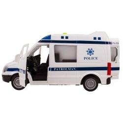 HD-58 Polis Ekip Minübüsü Sürtmeli Kırılmaz Oyuncak Sesli Işıklı 21 Cm