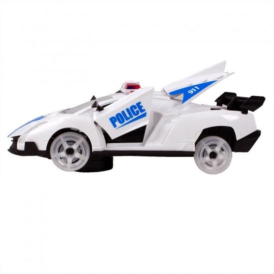 HD-81 Oyuncak Polis Arabası Çarp ve Devam Et Sesli Işıklı 22 Cm