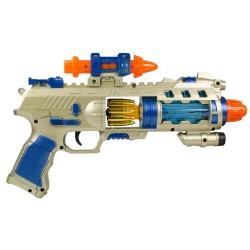 HD-93 Oyuncak Silah Sesli Işıklı Hareketli Tabanca 32 Cm