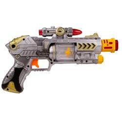 HD-94 Oyuncak Silah Sesli Işıklı Hareketli Lazerli Tabanca 28 Cm