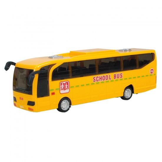 HD-109 Mercedes - Benz Travego Otobüs Oyuncak Sürtmeli 23 Cm