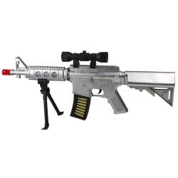 HD-118 Dev Boy Sesli Taramalı Tüfek Işıklı 60 Cm
