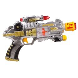 HD-125 Oyuncak Silah Sesli Işıklı Hareketli Lazerli Tabanca 28 Cm