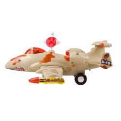 HD-126 Pilli Askeri Uçak Işıklı Sesli Çarp ve Devam Et