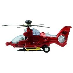 HD-127 Sesli Işıklı Oyuncak Helikopter Çarp ve Devam Et 27 cm