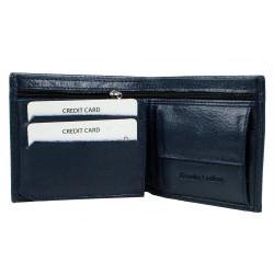 CL03-4 Erkek %100 Deri Cüzdan 6 Kart Alır Bozuk Paralı