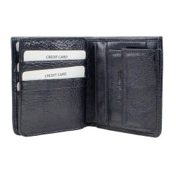 CL500-1 Erkek %100 Deri Cüzdan 9 Kart Alır Bozuk Paralı