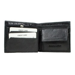 CL03-1 Erkek %100 Deri Cüzdan 6 Kart Alır Bozuk Para Bölmeli