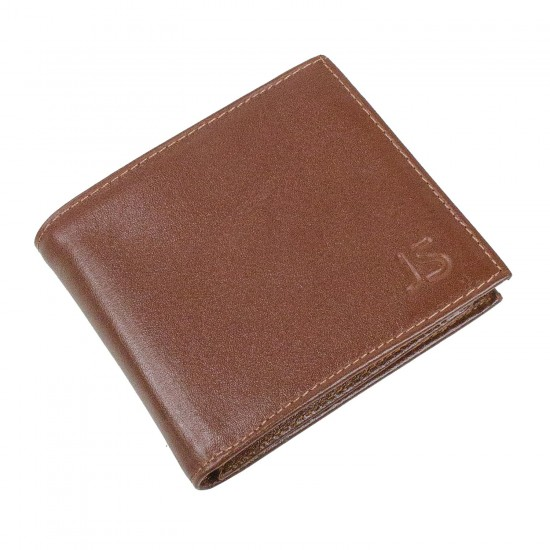 CL03-2 Erkek %100 Deri Cüzdan 6 Kart Alır Bozuk Para Bölmeli Taba