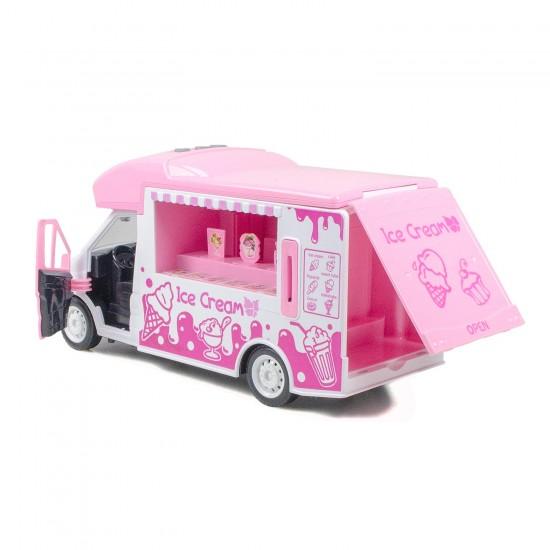 HD-128 Oyuncak Dondurma Arabası Işıklı Sesli Sürtmeli