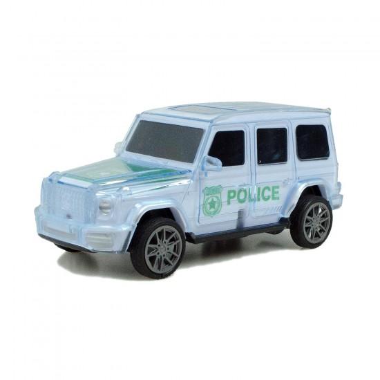 Mercedes Jeep Kırılmaz Korumalı Sürtmeli Oyuncak Polis Arabası