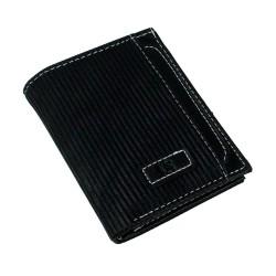 CS-06 Dik Cüzdan 13 Kartlık Bozuk ve Kağıt Para Bölmeli Siyah