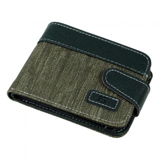 CS-07-1 Cüzdan 10 Kartlık Bozuk ve Kağıt Para Bölmeli Yeşil