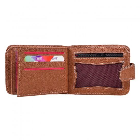 CS-07-2 Cüzdan 10 Kartlık Bozuk ve Kağıt Para Bölmeli Taba