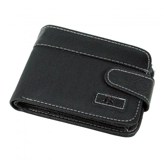 CS-07 Cüzdan 10 Kartlık Bozuk ve Kağıt Para Bölmeli Siyah