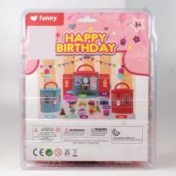 Happy Birthday Oyuncak Doğum Günü Hediyesi Kız Çocuk Ev Seti