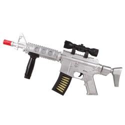 CS-11 Oyuncak Taramalı Tüfek M16 Işıklı Sesli 53 Cm