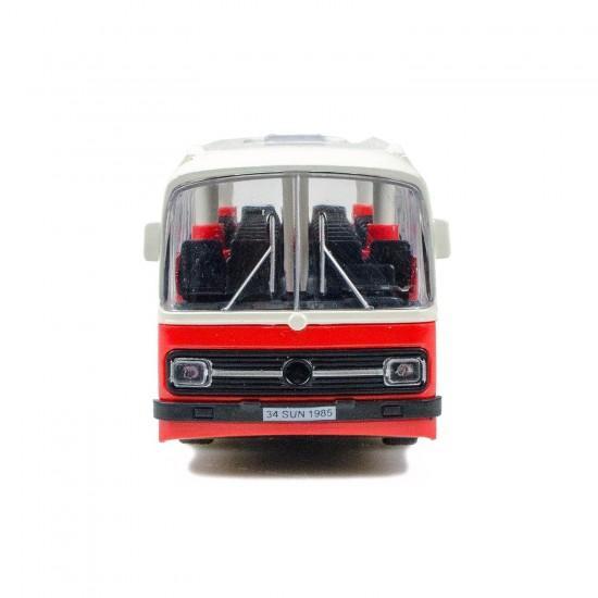 CS-12 Metal Kasa Die-Cast Halk Otobüsü Oyuncak 15 Cm Çek Bırak Kırmızı