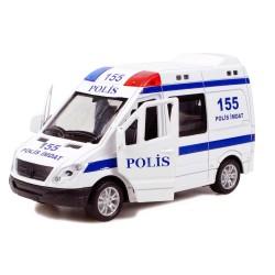 CS-13 Metal Kasa Die-Cast Polis Oyuncak 14 Cm Çek Bırak