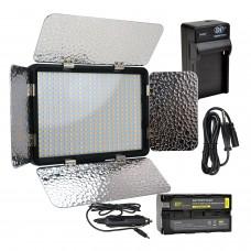 396 LED Profesyonel Kamera Video Işığı Tepe Lambası