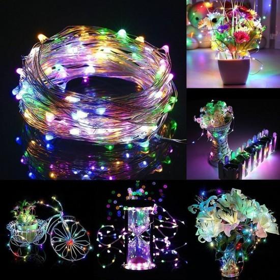 HT-18 3 Metre Peri LED İnce Tel Pilli Dekoratif 30 Adet LED