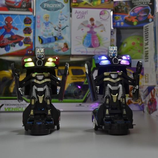 Transformers 2in1 Robota Dönüşen Işıklı Sesli Bugatti Araba