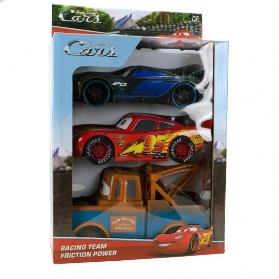 Cars Arabalar Şimşek Mcqueen, Jackson Storm, Mater Oyuncak Seti