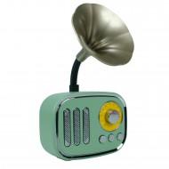 HT-142 Retro Gramofonlu Bluetooth FM Radyo Şarjlı