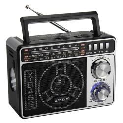KNSTAR KN-1030BT LED Lambalı Bluetooth Radyo MP3 17 Cm