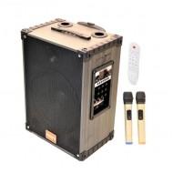 HT-9100 25 Cm Bass Şarjlı Çift Mikrofonlu Anfi Hoparlör Sistemi