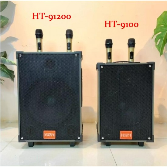 HT-91200 30 Cm Bass Şarjlı Çift Mikrofonlu Anfi Hoparlör Sistemi
