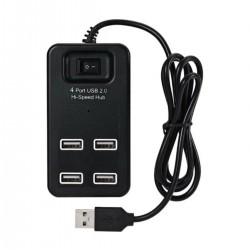 H-1601 Usb Çoklayıcı 2.0 Anahtarlı 4 Port 480mbps