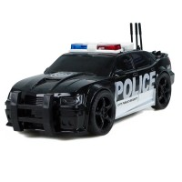 Kırılmaz Sürtmeli Oyuncak Polis Arabası Sesli Işıklı 19 Cm