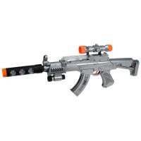 Titreşimli Oyuncak Tüfek Silah Işıklı 57 Cm Büyük Boy