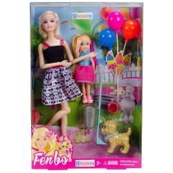 Fenbo Barbie Bebek Oyuncak Seti Sonsuz Eklem 30 Cm