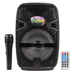 BT-08 Bluetoothlu Taşınabilir Radyolu Led Karaoke Müzik Sistemi