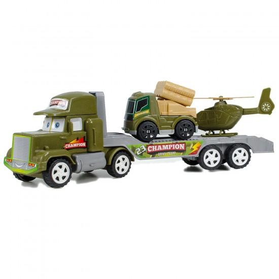 Oyuncak Askeri Transporter Helikopter ve Roketatarlı Set