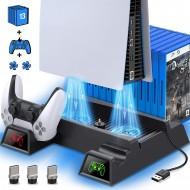 PS5 Çift Fanlı Dikey Soğutucu ve DualSense Kol Şarj Edici YH-51