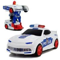 HT-34 Türkçe Konuşan Polis Arabası Dönüşen Robot 22 Cm